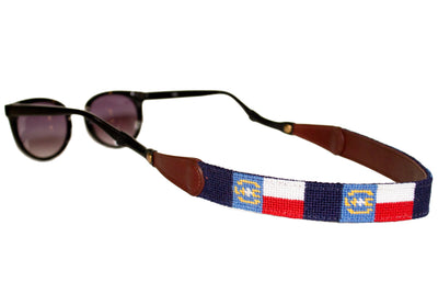 North Carolina Flag Needlepoint Sunglass Straps by Asher Riley