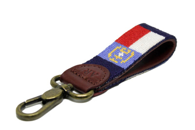 Asher Riley North Carolina Flag needlepoint key fob