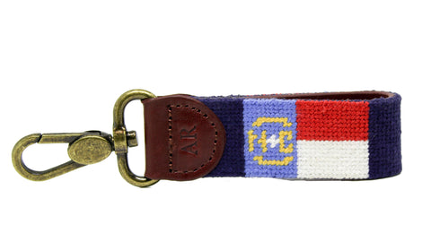 Asher Riley North Carolina needlepoint key fob
