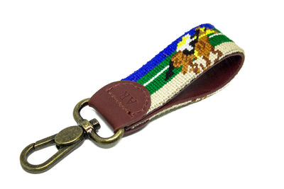 RACE HORSE NEEDLEPOINT KEY FOB™