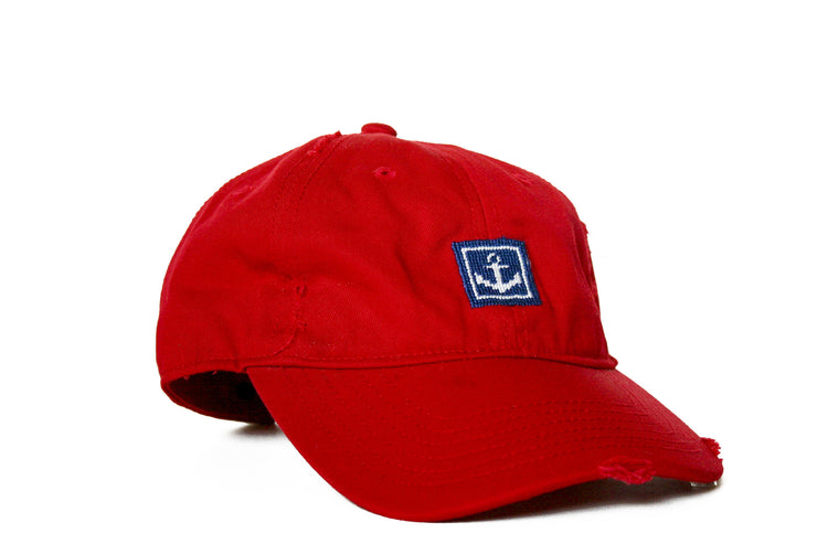 Anchor Needlepoint Hat by Asher Riley