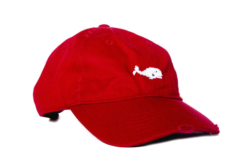 WHALE NEEDLEPOINT RED HAT