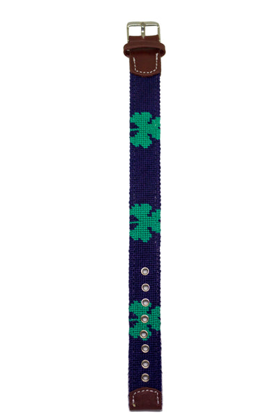 SHAMROCK NEEDLEPOINT WATCH STRAP
