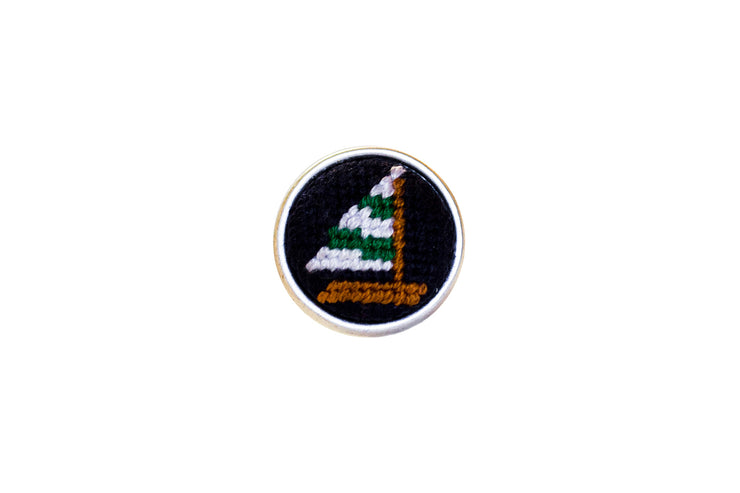 Asher Riley needlepoint sailboat cufflinks