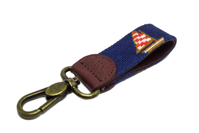 SAILBOAT NEEDLEPOINT KEY FOB™