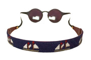 Asher Riley needlepoint ships sailing sunglass straps