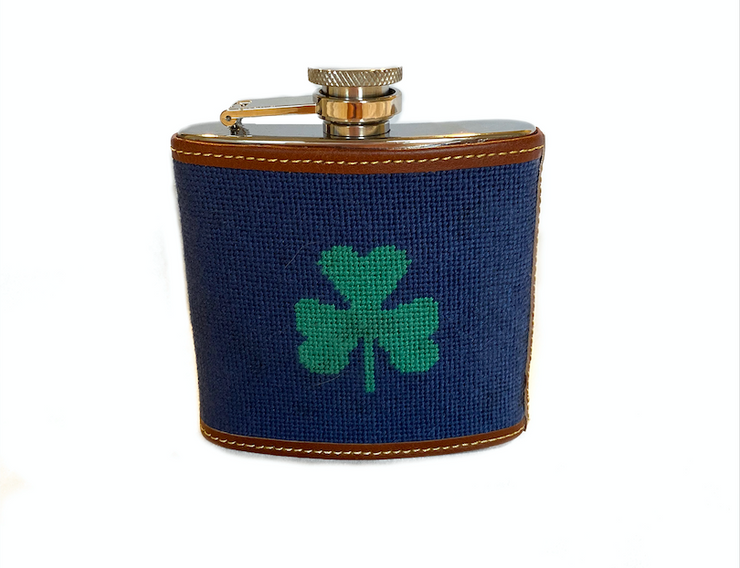 CLOVER NEEDLEPOINT FLASK™