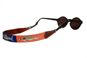 Asher Riley shark needlepoint sunglass straps