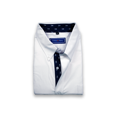 The Captain Sport Shirt by Cotton and Navy