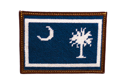 South Carolina needlepoint card wallet Asher Riley