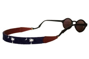 Asher Riley South Carolina Flag needlepoint sunglass straps