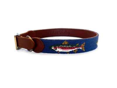 TROUT NEEDLEPOINT DOG COLLAR™
