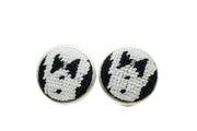 Tuxedo needlepoint cufflinks by Asher Riley