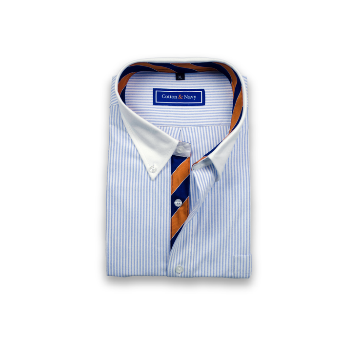 The Quarterback Sport Shirt by Cotton and Navy