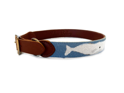WHALE NEEDLEPOINT DOG COLLAR™