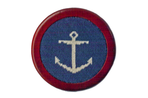 Nautical Anchor Needlepoint Coaster asher riley