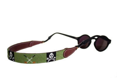 JOLLY ROGER AND GOLF CLUBS NEEDLEPOINT SUNGLASS STRAPS™