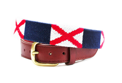 Asher Riley, Alabama Flag, Needlepoint Belt