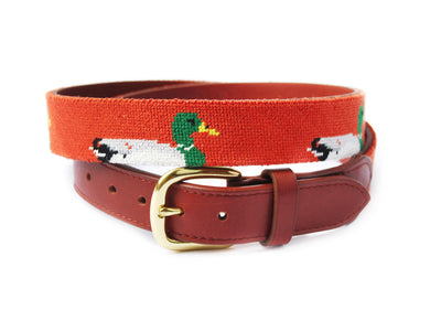Asher Riley Mallard Needlepoint Belt