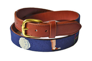 Asher Riley Golf Needlepoint Belt