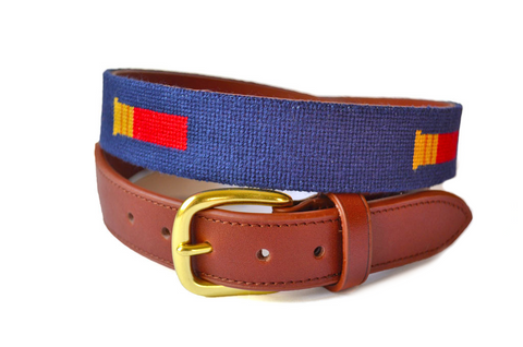 Asher Riley Shotgun Shell Needlepoint Belt
