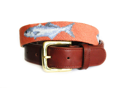Asher Riley Carp Needlepoint Belt