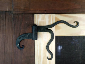 Hand forged decorative door hinges