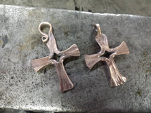 Load image into Gallery viewer, Forged Copper Cross Pendant