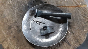 "Camp Skillet 6.75"" or 9.5"" diameter and Fork/Spoon combo, Hand Forged, Hiking"