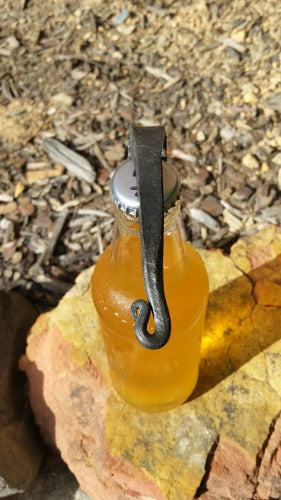 Hand forged bottle opener, key chain
