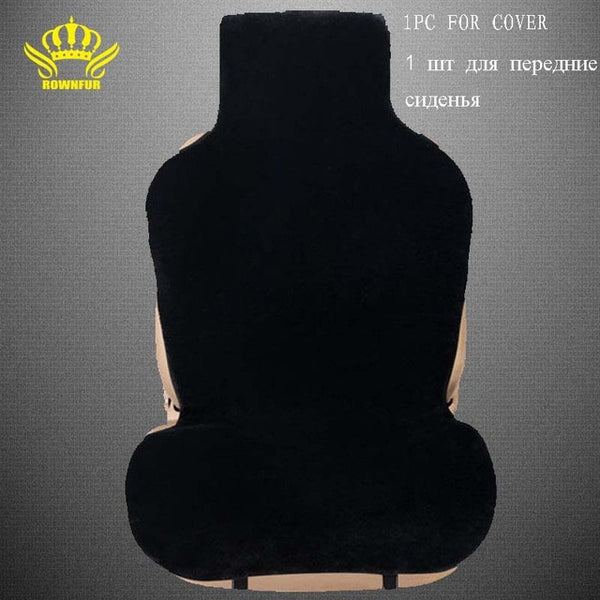 car seat covers set  black faux fur cute car  interior accessories cushion styling winter new plush car  pad seat covers for car