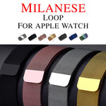 Milanese Loop Band for Apple watch 42mm 38mm Link Bracelet Strap Magnetic adjustable buckle with adapter for iwatch Series 3 / 2