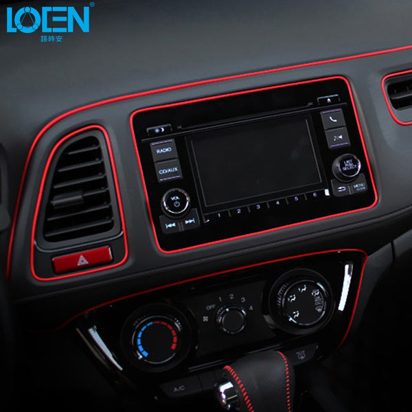 Car Styling 5M/pcs Universal DIY Flexible Interior Decoration Moulding Trim Strips Car Central Control and Door Decoration Strip
