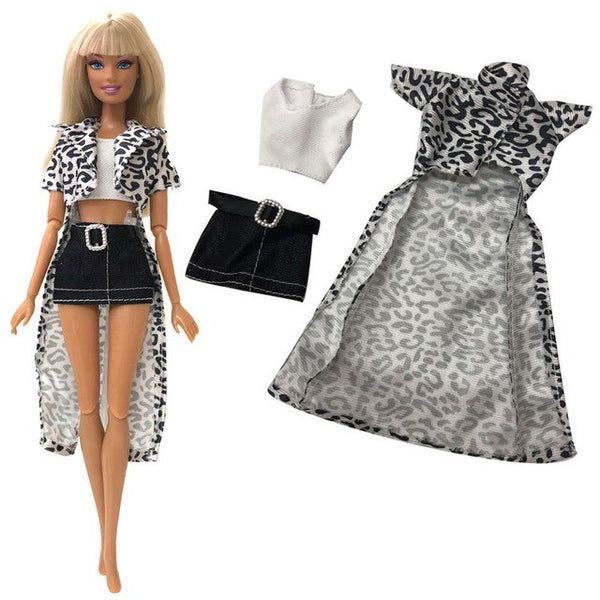 ... NK 2019 Newest Doll Dress Beautiful Outfit Handmade Party Clothes Top  Fashion Skirt For Barbie Noble ... 57457b56a39b
