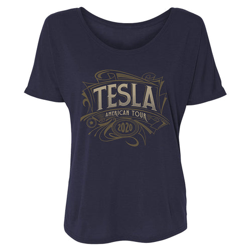 Tesla American Tour 2020 Ladies Navy Tee