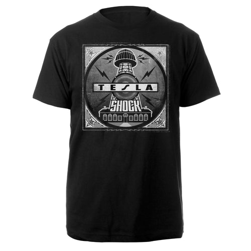 Shock Album Cover Tee-Tesla Band