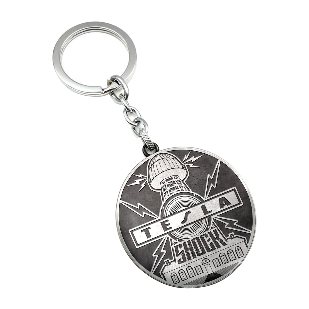 Shock Album Cover Keychain-Tesla Band