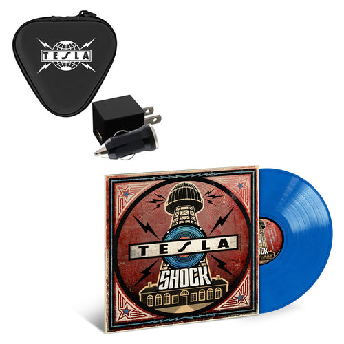 Web Exclusive Shock Blue Vinyl & Charger Set & Keychain-Tesla Band