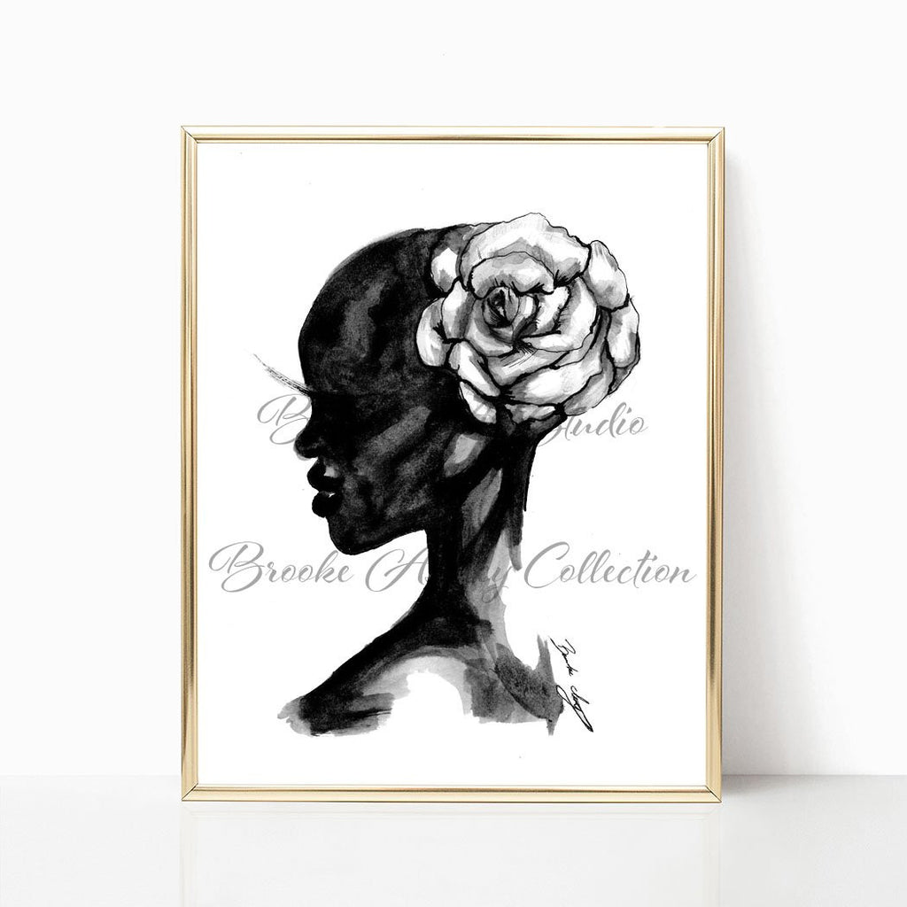 "brooke-ashley-collection-bac-art-studio - ""Wild Flower"" Art Print -  - Brooke Ashley Collection BAC Art Studio"