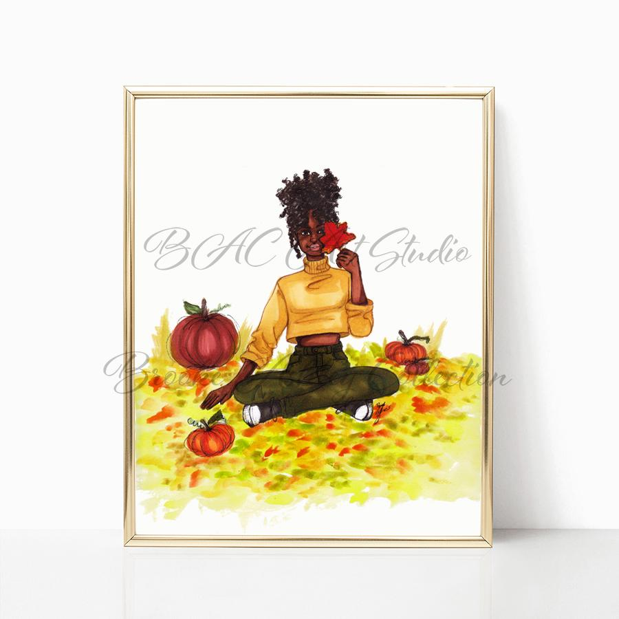 "brooke-ashley-collection-bac-art-studio - ""Autumn Leaves"" Art Print -  - Brooke Ashley Collection BAC Art Studio"