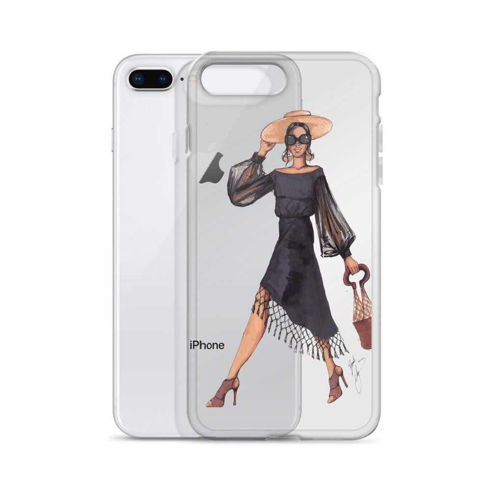 "brooke-ashley-collection-bac-art-studio - ""Woman in Black"" Clear iPhone Case -  - Brooke Ashley Collection BAC Art Studio"