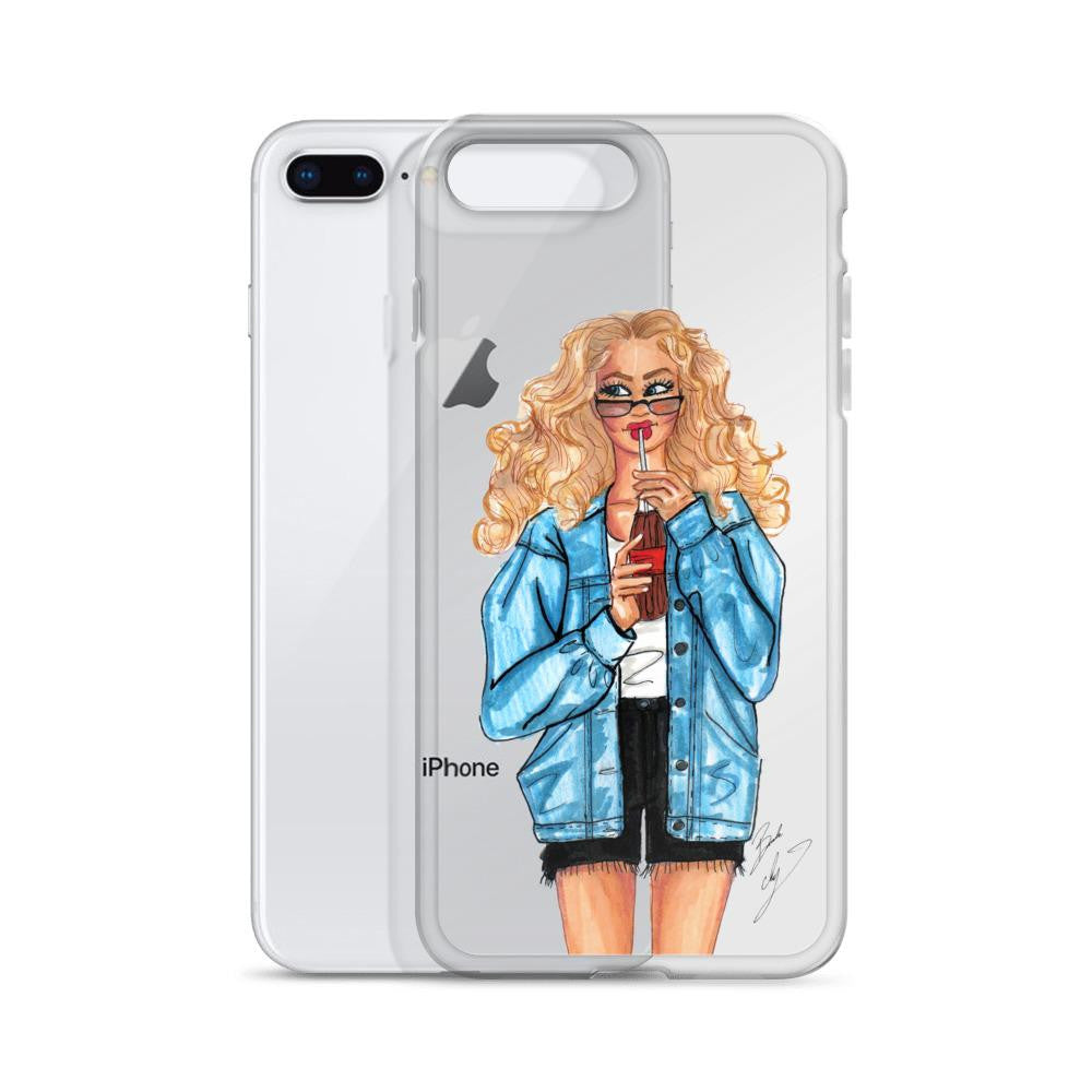 "brooke-ashley-collection-bac-art-studio - ""Summer Denim"" Clear iPhone Case -  - Brooke Ashley Collection BAC Art Studio"