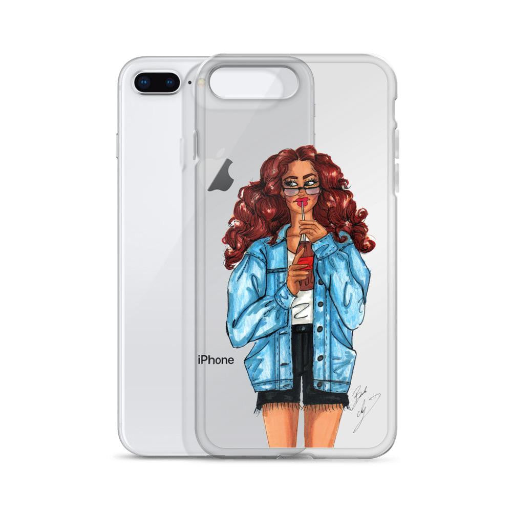 "brooke-ashley-collection-bac-art-studio - ""Summer Denim"" Clear iPhone Case -"