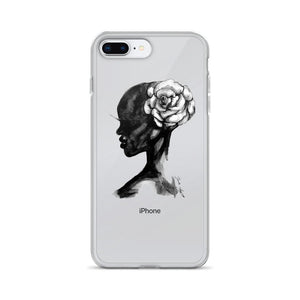 "brooke-ashley-collection-bac-art-studio - ""Wild Flower"" Clear iPhone Case -  - Brooke Ashley Collection BAC Art Studio"