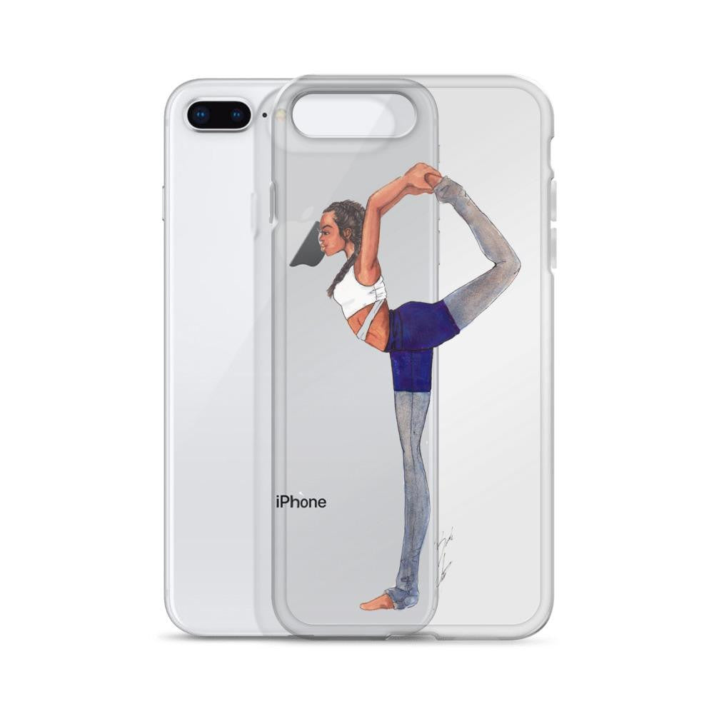 "brooke-ashley-collection-bac-art-studio - ""Yoga Girl"" Clear iPhone Case -  - Brooke Ashley Collection BAC Art Studio"