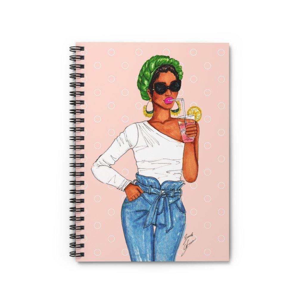 """Pink Lemonade"" Spiral Notebook - Brooke Ashley Collection"