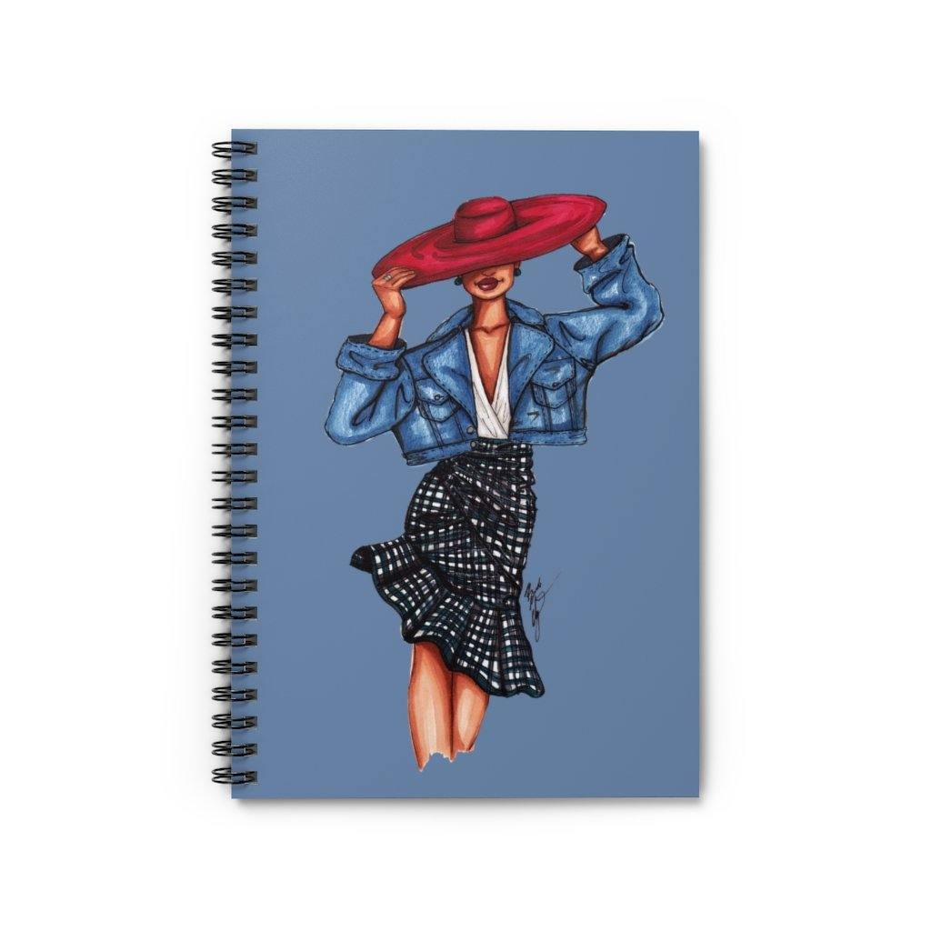 """Girl in the Red Hat"" Spiral Notebook - Brooke Ashley Collection"