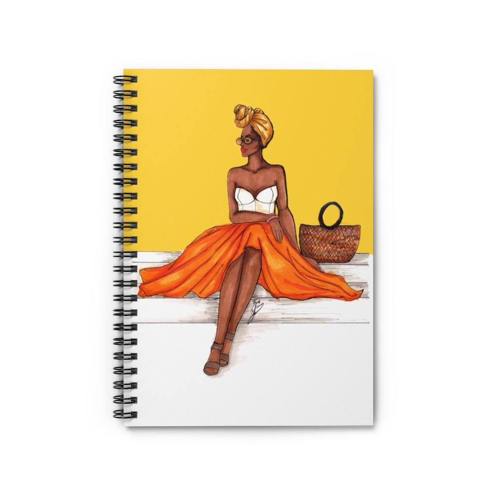 """Summer Glow"" Spiral Notebook - Brooke Ashley Collection"