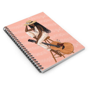 """The Musician"" Spiral Notebook - Brooke Ashley Collection"