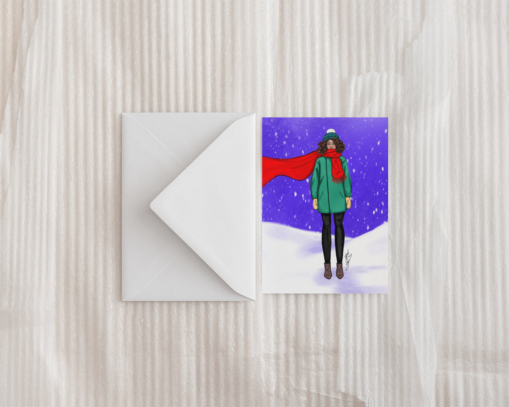 """Let it Snow"" Greeting Card"